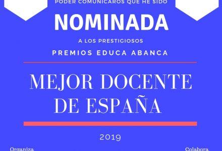 Nominación a ¡MEJOR DOCENTE DE ESPAÑA Premios EDUCA!
